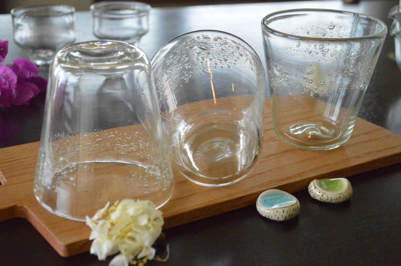 吹きガラス工房彩砂(るり) コーングラス うす泡