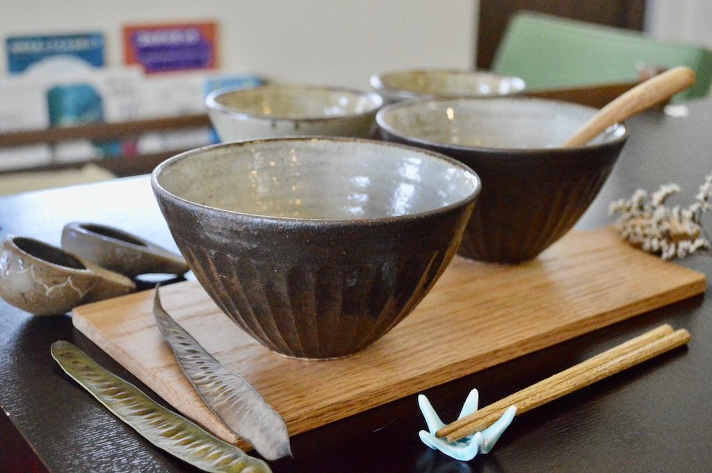 工房コキュ 4.5寸 マカイ(しのぎこげ茶)