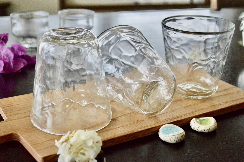 吹きガラス工房彩砂(るり)  アイスカットコーングラス