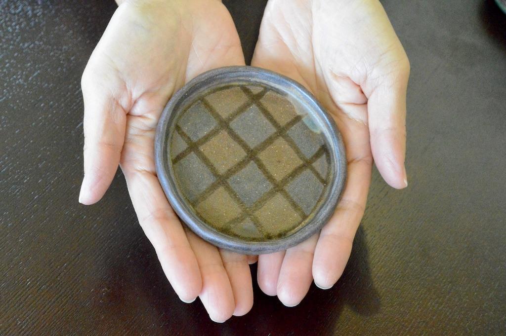 工房ことりの 豆皿(チェック柄)