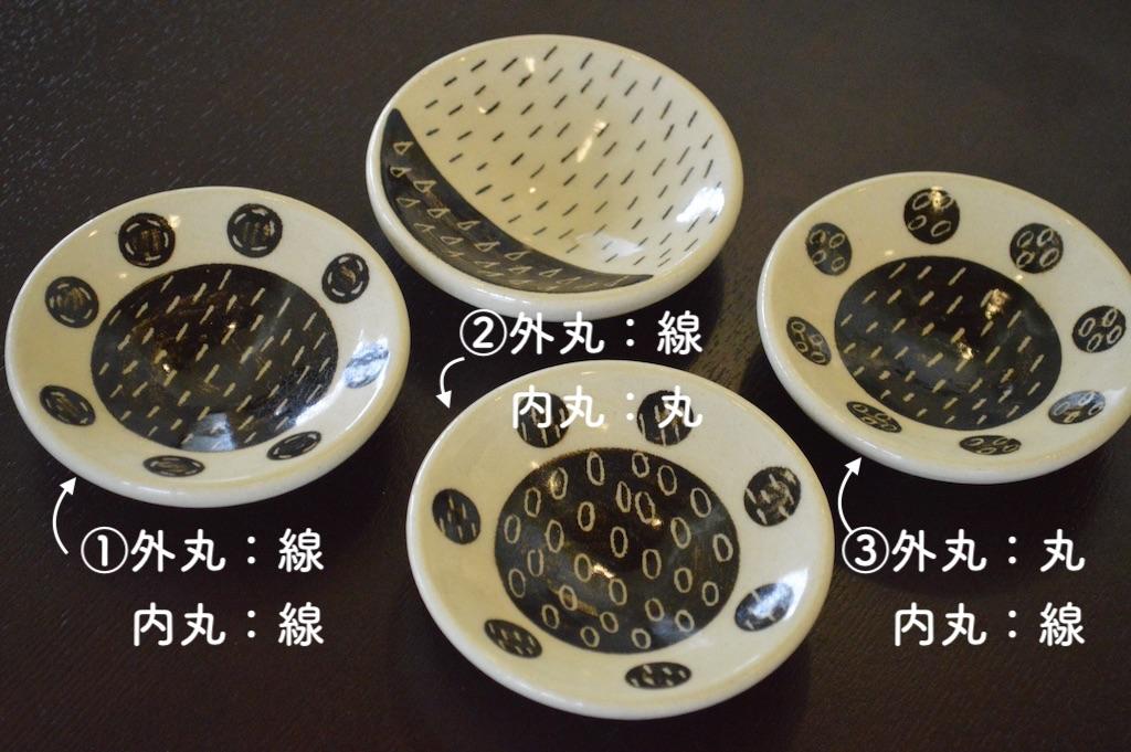 工房双子堂 ベンガラ絵付け豆皿(丸模様)全3種